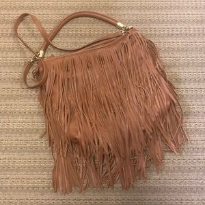 H&M Fringe Bag Brown Faux Leather 👍🏻